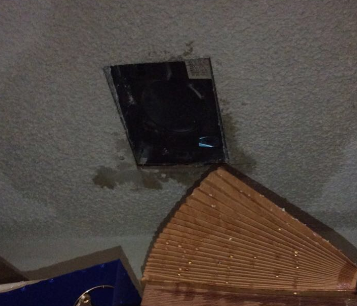 Ceiling leak causes major damage to local office
